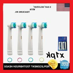 NEW Oral-B Style Electric Toothbrush 4 Replaceable Brush Bat