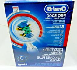 NEW!! Oral B Toothbrush Pro 5000 Rechargeable Electric Smart