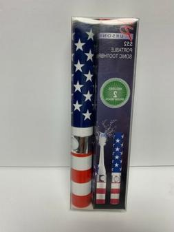 NEW  PURSONIC S52 Portable Powered Sonic Electric Toothbrush