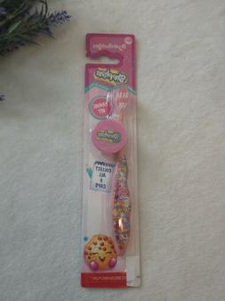 NEW SHOPKINS Brush Buddies Travel Kit Toothbrush Soft Pink w