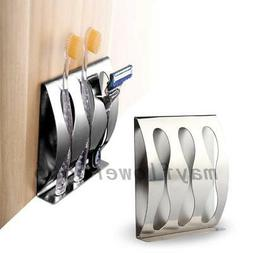 No Drill Stainless Steel Wall Mount Toothpaste Dispenser Too