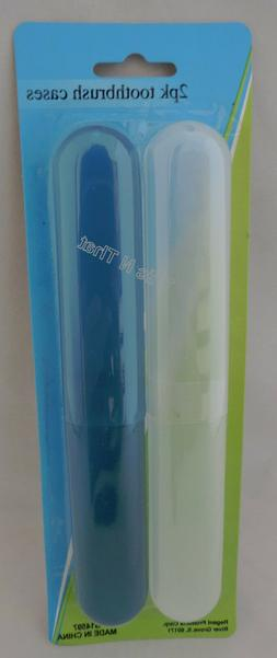 NEW 2 Pack Toothbrush Holders Case Travel Camping Cover Tube