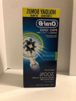 Oral-B 1000 CrossAction Electric Toothbrush White Powered by