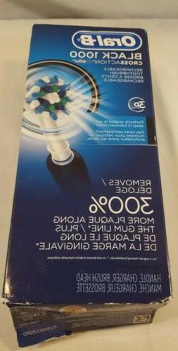 Oral-B Black 1000 Cross Action 3D Rechargeable Toothbrush*Se