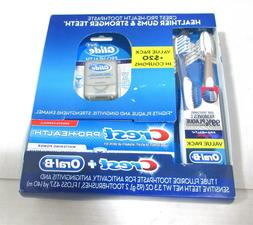 Oral-B Crest Value Pack Tooth Brush Floss Toothpaste Healthi