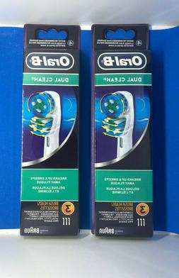Oral-B Dual Clean Replacement Electric Toothbrush Head - 6 C