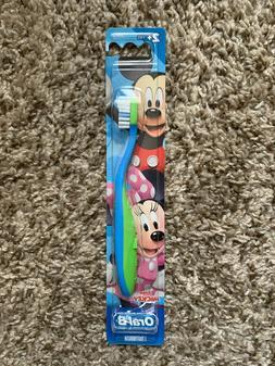Oral B Kids Minnie Mickey 2+ Toothbrush NEW
