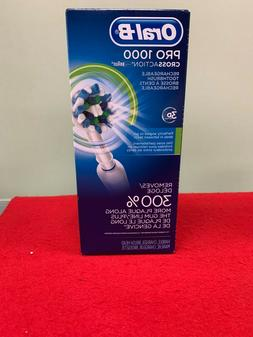 Oral B Pro 1000 3D Cross-Action Braun Rechargeable Power Too