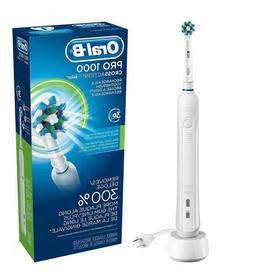 Oral-B Pro 1000 CrossAction 3D Rechargeable Toothbrush,WHITE