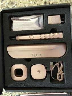 Burst Oral Care Electric Toothbrush Rose Gold NEW Kit + Free