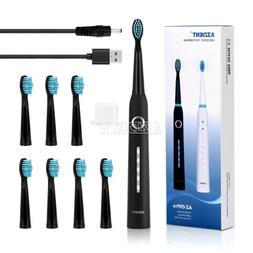 Oral Sonic Electric Toothbrush Soft DuPont Brush 3 Replaceab