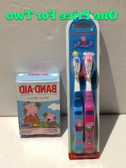 Brush Buddies Peppa Pig 2 Pack Toothbrush Soft.  -Brand New