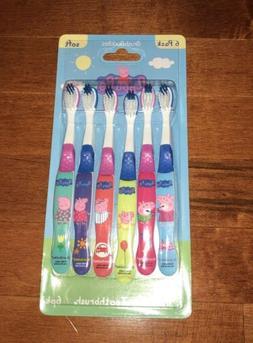 Brush Buddies Peppa Pig Set of 6 Toothbrushes New Free Shipp