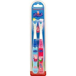 Brush Buddies Peppa Pig Soft Toothbrushes 2 Per Pack