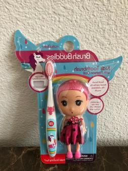 Pink Brush Buddies Toothbrush with Fashion Doll!