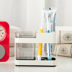 Plastic Toothbrush Holder Toothpaste Razor Stand Rack Bathro