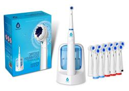 power rechargeable electric oscillating toothbrush w uv
