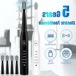 Electric <font><b>Toothbrush</b></font> Rechargeable Ultraso