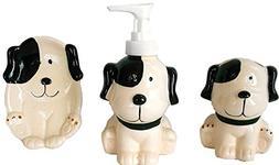 Puppy Dog Stoneware Bath Accessories Set