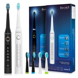Fairywill Sonic Electric Toothbrush 3 Replacement Heads 5 Mo
