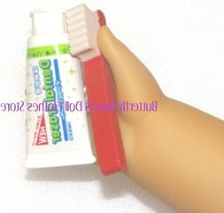 Red Toothbrush Toothpaste 18 in Doll Clothes Accessory Fits