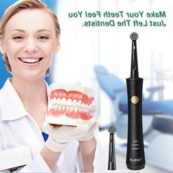 Fairywill Rotary Electric Toothbrush 2 Round Brush Heads Pow