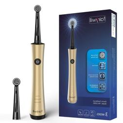 Fairywill Rotary Rechargeable Electric Toothbrushes Gold 2 T