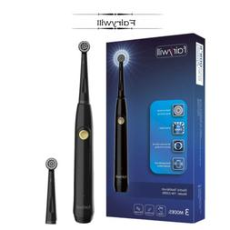Fairywill Rotary Electric Toothbrushes Black Rechargeable So