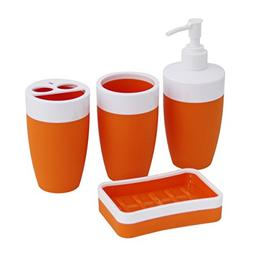 JustNile Royal Plastic and Rubber 4-Piece Bathroom Accessory