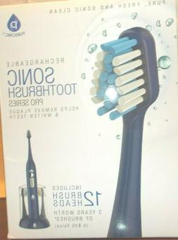 Pursonic S430 rechargable sonic toothbrush pro series 12 bru