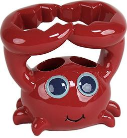 Saturday Knight Set Sail Crab Toothbrush Holder One Size Red