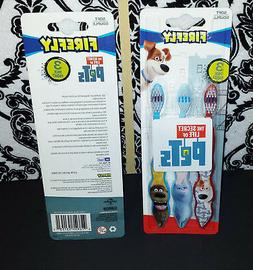Firefly Secret Life of Pets 3 Pk Child Toothbrushes Kids Max