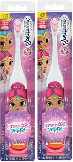 SpinBrush Shimmer and Shine Kid's Powered Toothbrush 2 pack