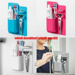 Silicone Mighty Toothbrush Holder for Travel Bathroom Organi