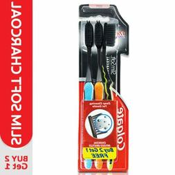 Colgate Slim Soft Charcoal Toothbrush Tip Bristle  Pack Of 1