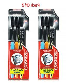 Colgate Slim Soft Charcoal Toothbrush Tip Bristle  Pack Of 2