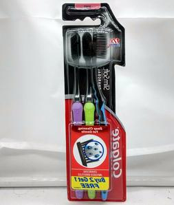 Colgate Slim Soft Charcoal Toothbrush Pack of 3 Toothbrushes