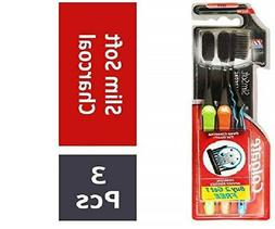 Colgate Slim Soft Charcoal Toothbrush Twin Pack Saver