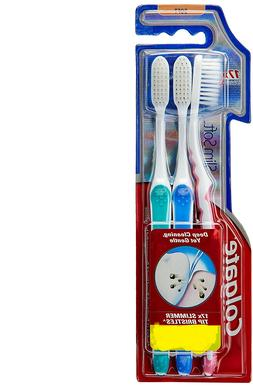 2 x Pack of 3 Colgate Slim Soft Toothbrush - 17x Slimmer Tip