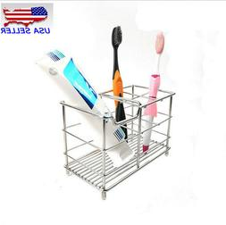 Small Stainless Steel Bathroom Toothbrush Toothpaste Holder