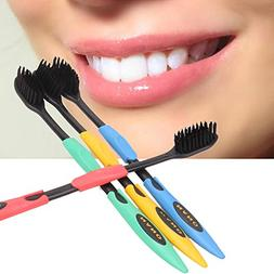 Soft Toothbrush - Pulsar Toothbrush - 4PCS Double Ultra Soft
