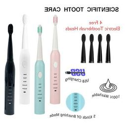 sonic electric kids toothbrush rechargeable 5 modes