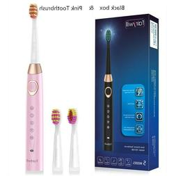 Fairywill 5 Modes Sonic Electric Toothbrush Rechargeable Cha