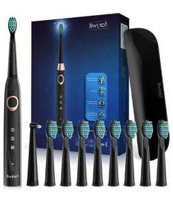 Fairywill Sonic Electric Toothbrush Travel Case Black Rechar