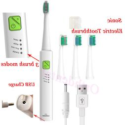 Sonic Electric Toothbrush USB Charge Rechargeable 3 Cleaning