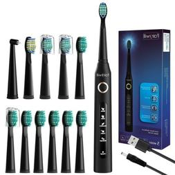 Fairywill Sonic Electric Toothbrush with 3 Replacement Heads