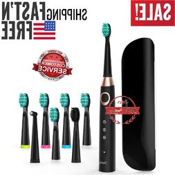 Sonic Electric Toothbrush With 8 Replacement Heads Black Dee