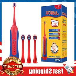Sonic Kids Electric Toothbrush 3 Modes 2-Min Timer, 4 Soft B