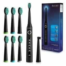 Fairywill Electric Toothbrush Rechargeable Black 5 Cleaning