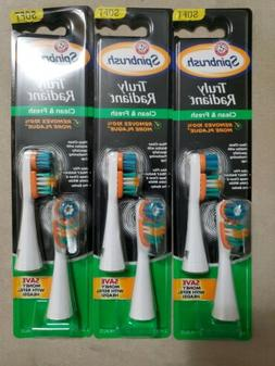 Spinbrush Truly Radiant Replacement Toothbrush Heads Soft Ar